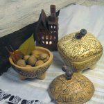 кутийки и свещник керамика